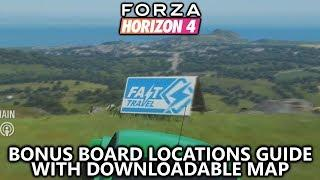 Forza Horizon 4 - Bonus Boards Locations Guide (w/ Downloadable Map) - Influence and Fast Travel