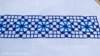 Cross Stitch Tutorial for Beginners Part- 03. Border Line Design by Crafts & Embroidery