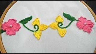 Hand Embroidery | Easy Border Design | Borderline Embroidery Design |  Border Hand Embroidery Design