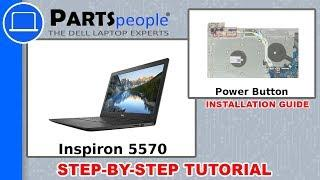 Inspiron 15-5570 W/ DVD Drive (P75F001) Power Button Circuit Board How-To Video Tutorial
