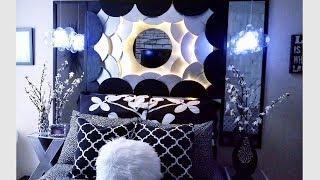 Diy Modern Head Board + Inbuilt Lighting And Diy Pendant Lighting Using Household items!