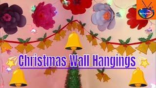 DIY merry Christmas garland / How to make Christmas bell wall hanging / Christmas garland decoration