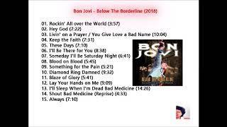 Bon Jovi - Below The Borderline (2018) Canciones Rock Americano