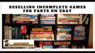 Reselling INCOMPLETE Board Games for Pieces and Parts on Ebay