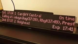 Live rail departure board