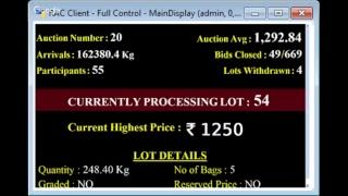 SPICES BOARD E-AUCTION PUTTADY 23/11/2018 HEADER LIVE