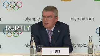 LIVE: IOC President Bach debriefs press as board meetings come to close
