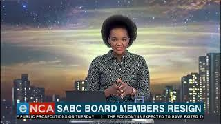 Three members of the SABC board have resigned.