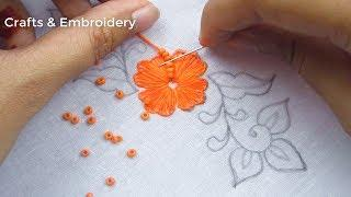 Hand Embroidery, New Border Line Embroidery Tutorial, Easy Border Design