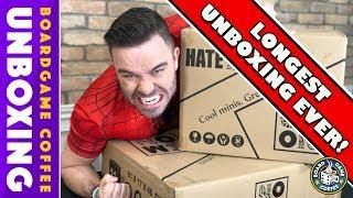CMON Hate Unboxing with board game expansions