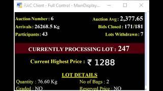 SPICES BOARD E-AUCTION PUTTADY - 24.05.2019 HEADER LIVE