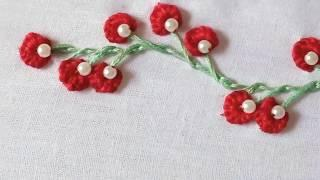 Hand embroidery/Hand embroidery border line design tutorial for beginners.