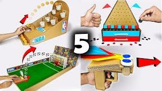 5 Amazing Things You Can Do at Home | 5 Cardboard Desktop Board Games