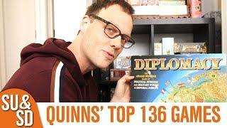 Quinns' Top 136 Board Games (as of April 2019)