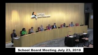 School Board Meeting July 23, 2018 Ames Community School District Live Stream