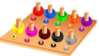 Learn Color Numbers Rainbow Board Game | Nursery Rhymes Educational Videos for Kids Children Baby
