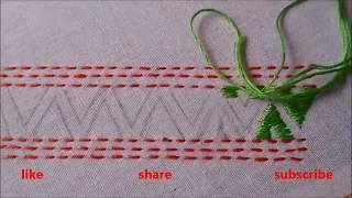 EMBROIDERY BORDER LINE DESIGN // HAND EMBROIDERY DESIGN