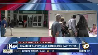 Board of Supervisors candidates cast votes in 2018 Election