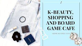 Korean Make Up, Seoul Shopping & Board Game Cafe | KOREA VLOG