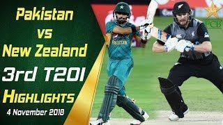 Pakistan Vs New Zealand | 3rd T20I | Highlights | 4 November 2018 | PCB