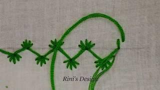 Hand Embroidery Nakshi Kantha Border Line Stitching Tutorial#How to stitch border#নকশীকাঁথা নকশা,