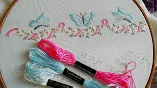 Easy beautiful Border line * Easy stitches *  Embroidery for beginners #malina_gm