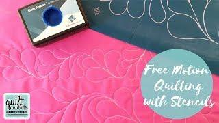 Learn to Quilt Modern Feather Border using Full Line Stencil!