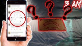 (WANTS TO HURT ME!?) ASKING OUIJA BOARD YOUR QUESTIONS AT 3 AM IN MEXICO *OUIJA BOARD CHALLENGE*