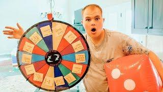GIANT GAME BOARD CHALLENGE! Mystery Wheel Challenges