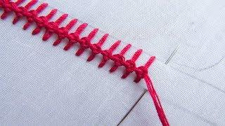 Hand Embroidery; Border Line Embroidery; Basic Embroidery stitch; Part 7