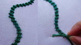Basic Hand Embroidery part-6 | Border line hand embroidery | border line tutorial by rose world