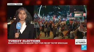 "Turkey elections: ""Protesters gathered around the supreme election board in Ankara"""