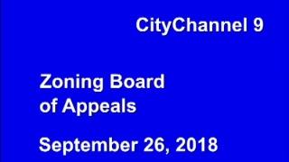 LIVE: Zoning Board of Appeals Meeting