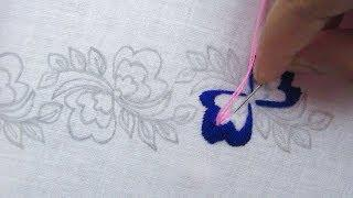 Hand Embroidery, Border line design for blause, Beautiful border line embroidery