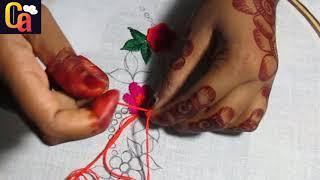 Amazing Border Line Embroidery Design, Easy Border Embroidery.