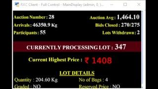 SPICES BOARD OF INDIA PUTTADY E-AUCTION - 20.03.2019 SSP LIVE