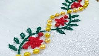 Hand Embroidery, Decorative border line embroidery design,Modern Hand Embroidery