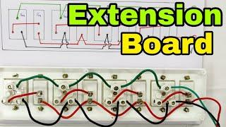 How to Make Electrical Extension Board, Step by Step (In Hindi)