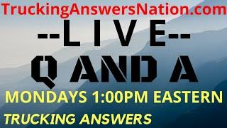 Trucking Q And A Live HOS Trucker questions