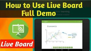 How to Use Live Board app. Full Demo / how to use live board on computer.