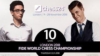 Caruana-Carlsen Game 10 - 2018 FIDE World Chess Championship