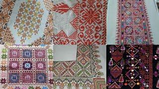 Very Beautiful Cross Stitch Amazing Patterns For Bedsheet Borderline And Table Covers