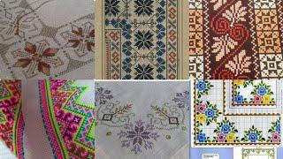 Beautiful Cross Stitch Amazing Patterns For Bedsheet Borderline