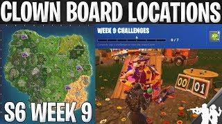Fortnite Carnival Clown Board Locations | Season 6 Week 9 Challenge Map