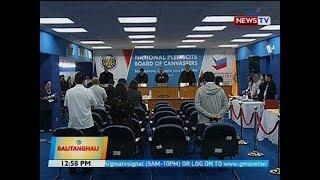 BT: Board of canvassers, maagang nag-adjourn dahil wala pa raw natatanggap ng COC