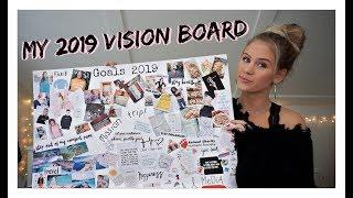 My 2019 Vision Board! How To Make a Dream Board & Explaining My Goals