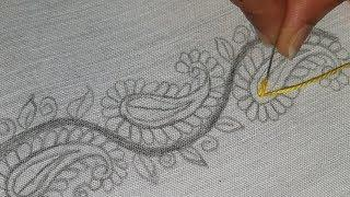 Hand Embroidery Beautiful Border design,Amazing border line decorative embroidery design,Sewing Hack