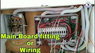 Main board fitting wiring with change over switch and mcb box   YK Electrical
