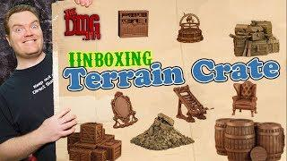 Terrain Crate Dungeon Depths Unboxing and Paint Experiments