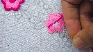 Hand embroidery,Nakshi kantha border line design tutorial 7